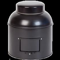 Tedåse sort rund m/skilteholder 2000g