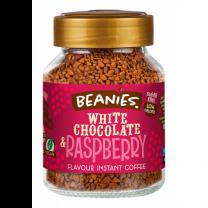 Beanies White Chocolate & Raspberry 50g instant kaffe